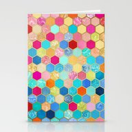 Patterned Honeycomb Patc… Stationery Cards