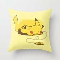 Pikacharger Throw Pillow