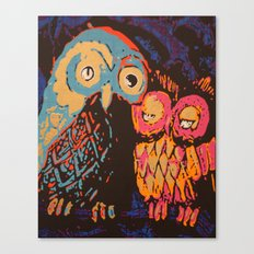 Psychedelic Owls Canvas Print