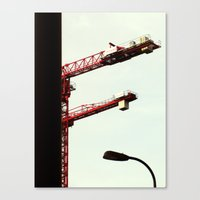 Red Crane Canvas Print
