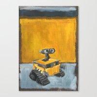 Wall-E And Rothko Canvas Print