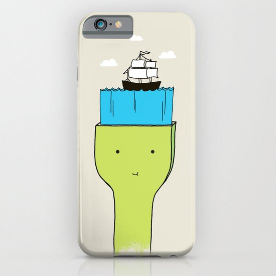 Brush With Blue Sea iPhone & iPod Case