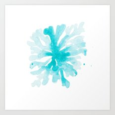 Turquoise Blue Coral Art Print