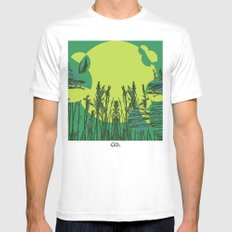 Grassy Sunset. SMALL White Mens Fitted Tee