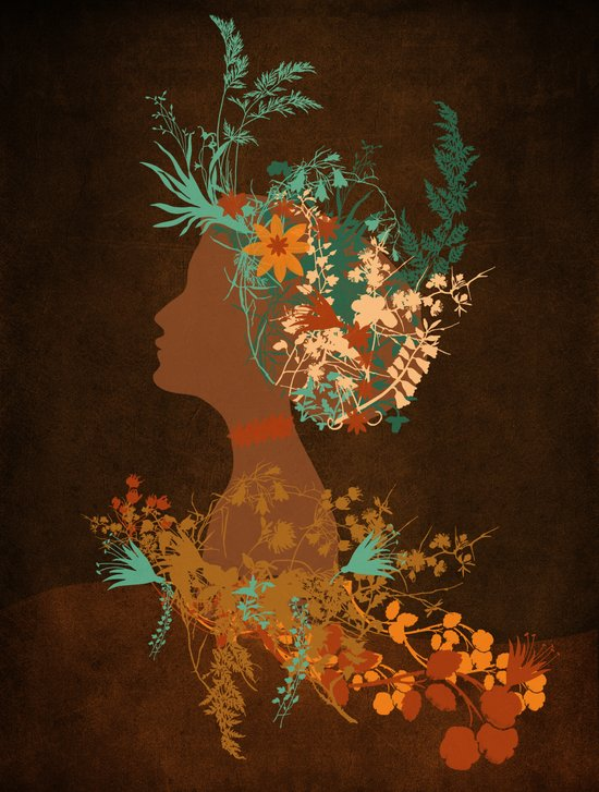 Mujer floral Canvas Print