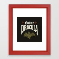 Count Dracula Framed Art Print