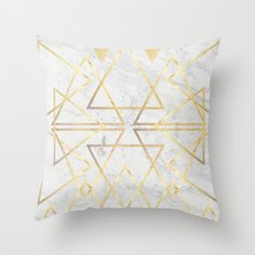 wire gOld triangle Throw Pillow