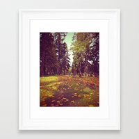 Framed Art Print featuring Cemetery pathway by Vorona Photography