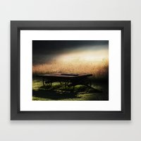 Sunrise On The Wagon Framed Art Print