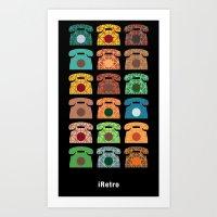 iRetro (boys) / black Art Print
