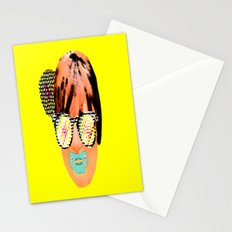 Digital baby lady Stationery Cards
