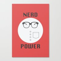 Nerd Power Canvas Print