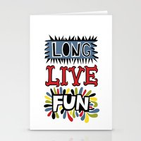 Long Live Fun Stationery Cards