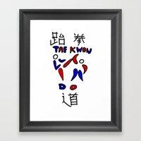 Taekwondo Framed Art Print