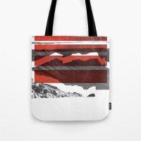Red Terrain Tote Bag