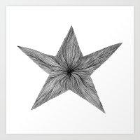 Star Jelly I B&W Art Print