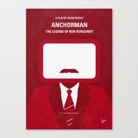 No278 My Anchorman Ron Burgundy minimal movie poster Canvas Print