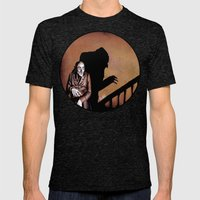 Nosferatu - A Symphony of HORROR! Mens Fitted Tee Tri-Black SMALL