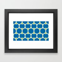 Modern Circles Framed Art Print