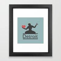 The Spirit of Detroit Framed Art Print