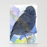 Vinter fugl Stationery Cards