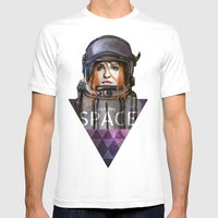 Give Me Space (Girl) Mens Fitted Tee White SMALL