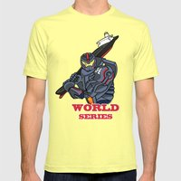 THE world series Mens Fitted Tee Lemon SMALL