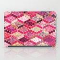 Wild Pink & Pretty Diamond Patchwork Pattern iPad Case