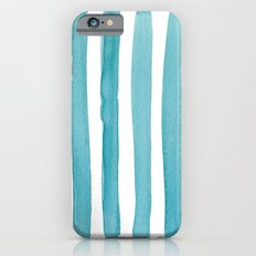 Watercolor Juicy Strokes: Teal iPhone 6s Slim Case