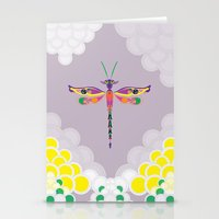 Dragon Fly Stationery Cards