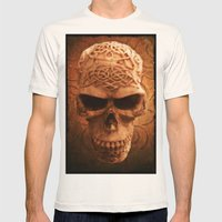 Simply Skull Mens Fitted Tee Natural SMALL