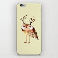 owl print, owl illustration, owl art, owl  iPhone & iPod Skin