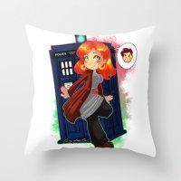 Doctor Donna  Throw Pillow