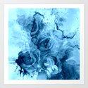 roses underwater Art Print