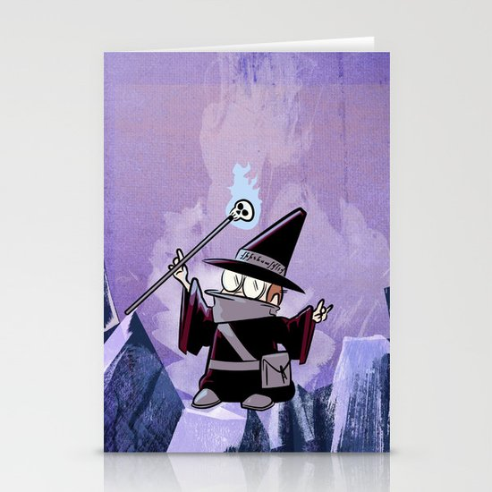 Harold the Evil Necromancer Stationery Card