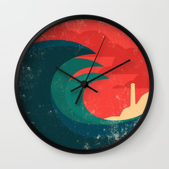 The wild ocean Wall Clock