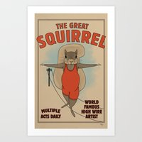 The Great Squirrel Art Print