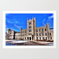 Northern Illinois University Castle - HDR Art Print
