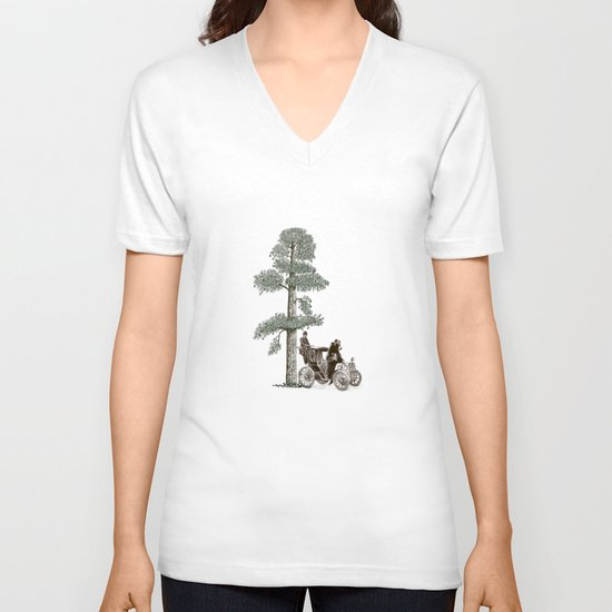Two Gentlemen in the Forest V-neck T-shirt