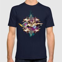 Kaleidoscope Man Mens Fitted Tee Navy SMALL