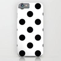 iPhone Cases featuring Dots B&W by Mr and Mrs Quirynen