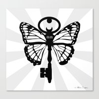 The Key Of Liberty (自由) Canvas Print