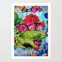 Floral Frog Art Print