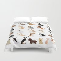 Dog Overload - Cute Dog … Duvet Cover