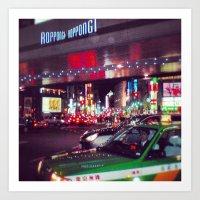 Downtown Roppongi  Art Print