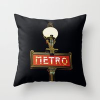 Metro - Paris Subway Sig… Throw Pillow