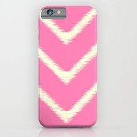 iPhone & iPod Case featuring Pink Ikat Chevron by fable design