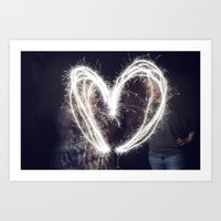 Sparkler Love Art Print