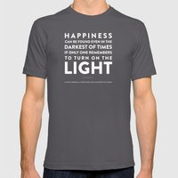 Light - Quotable Series Mens Fitted Tee Asphalt SMALL