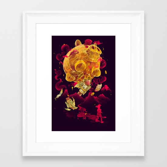Piggy Boom Framed Art Print
